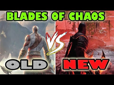 OLD VS NEW BLADES OF CHAOS GOD OF WAR 4 + ALL MOVES (2018) [PS4 PRO]