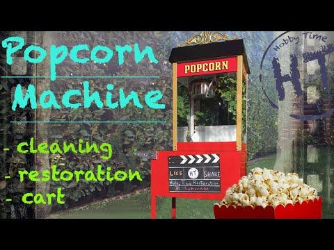 Popcorn Machine Restoration Cleaning 🍿 (CART) 🍿 Street Vendor 6 Popper