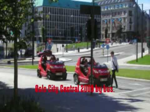 Oslo City Centre by Bus..Norway 2009