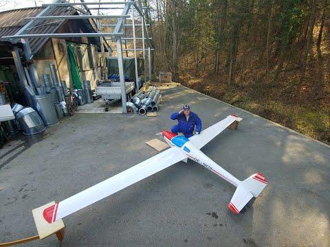 GIANT SAPHIR 6.3m motor glider with TitanZG 62cc petrol engine First look