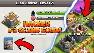 Hacker found castle level 2 and in the golem clash of clans clan(hindi)sam1735