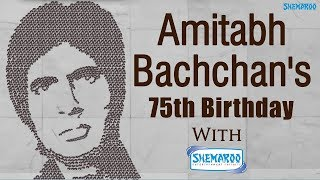 Shemaroo Celebrates Amitabh Bachchan's 75th with a Human Mosaic of 400 People