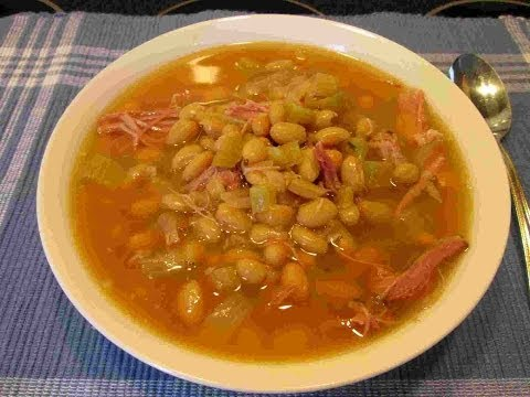 Slow Cooker SMOKED TURKEY & Bean Soup ~Ham Substitute REcipe