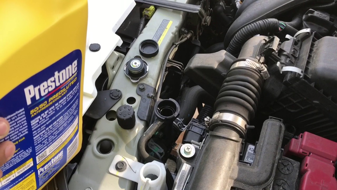 quick coolant flush on nissan versa note 2015 [ 1280 x 720 Pixel ]