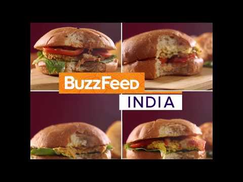Veg Burger Four Ways