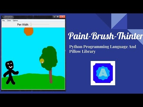 Tkinter Drawing App | Python | PILLOW | Paint Brush Programme | With code