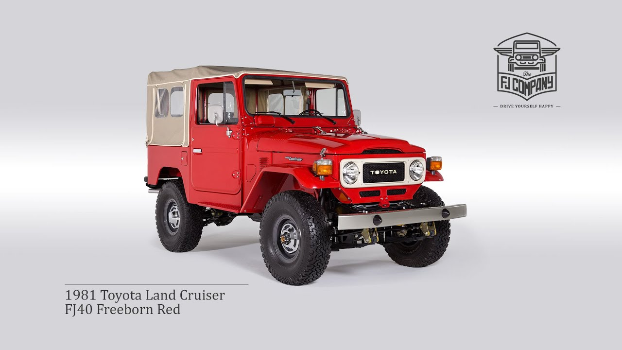 1981 Toyota Land Cruiser FJ40 Freeborn Red Restoration Process FHD