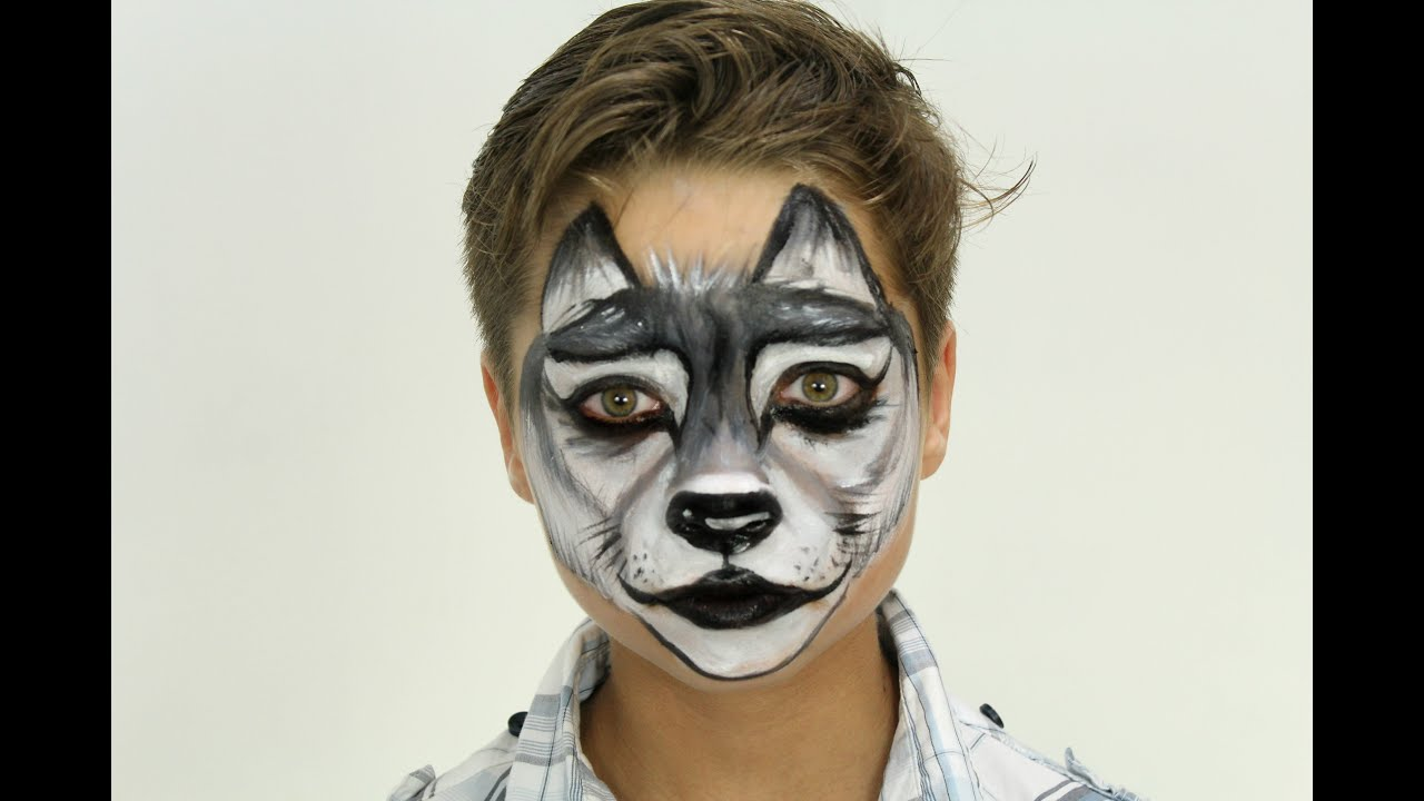 Gray Wolf Face Paint