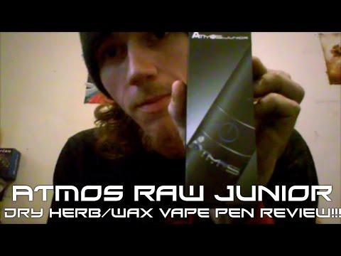 Atmos Raw Junior Dry Herb\Wax Vape Pen Review!!!