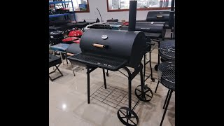 DS-35/DS-36, Roll-away Charcoal Grill Gourmet BBQ Offset Smoker.