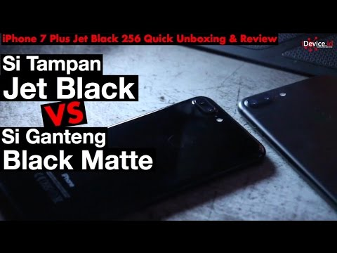 iPhone 7 Plus Jet Black VS Matte Black - INDONESIA ( iDevice Indonesia)