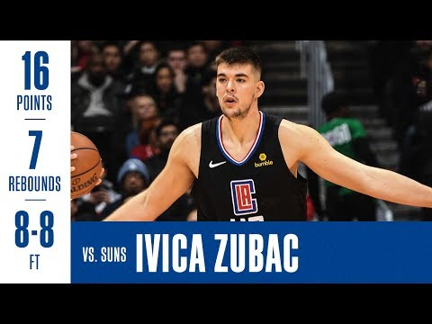 Ivica Zubac Highlights vs. Suns 16 points, 7 rebounds 8/8 FT in 22 minutes