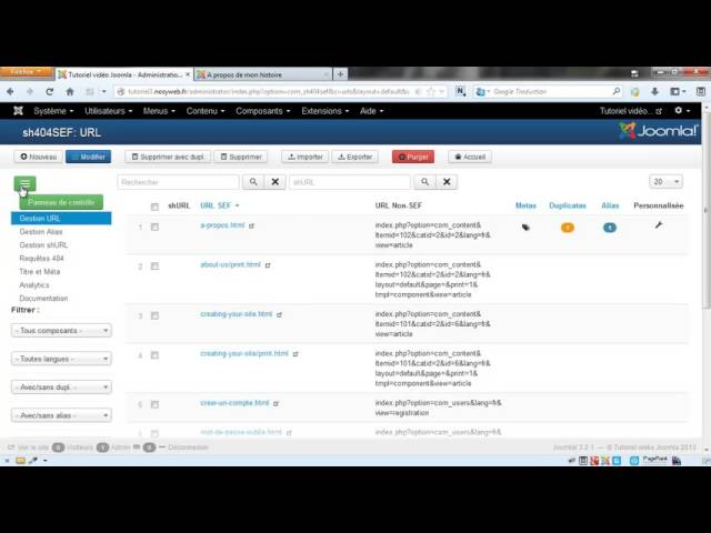 Joomla 3 - Gestion des titres et metas avec sh404SEF