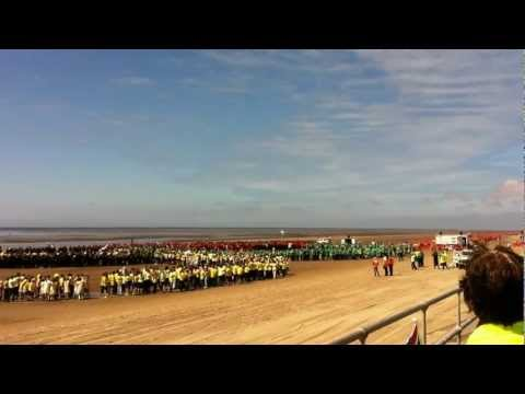 Olympic Rings World Record - Crosby Merseyside UK