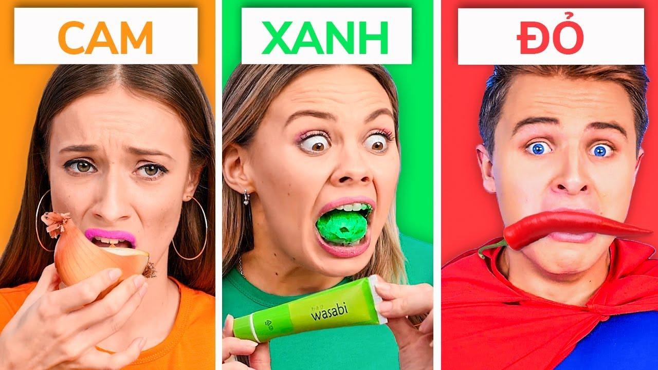 CHỈ ĂN MỘT MÀU THỰC PHẨM TRONG 24 GIỜ! || Những thách thức thực phẩm hài hước