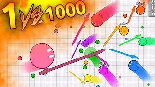 1 VS 1000 CRAZY BATTLE !! ( Rusher.io Gameplay )