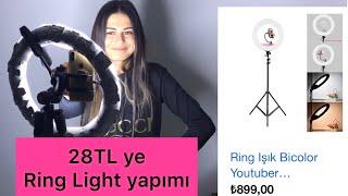 28TL ye Ring Light (yuvarlak ışık) yapımı #diy