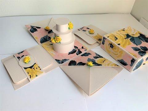 DIY Unique 3D Cake Explosion box for Wedding | Anniversary | Birthday | Handmade