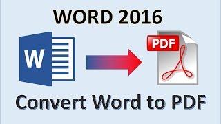 كلمة 2016 - تحويل Word إلى PDF - كيفية إنشاء ملف PDF من منصبه - جعل Word إلى PDF في مرض التصلب العصبي المتعدد
