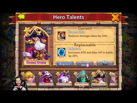 5/5 Bulwark On DD Or Ghoulem? Rolling 22k On Talents Castle Clash