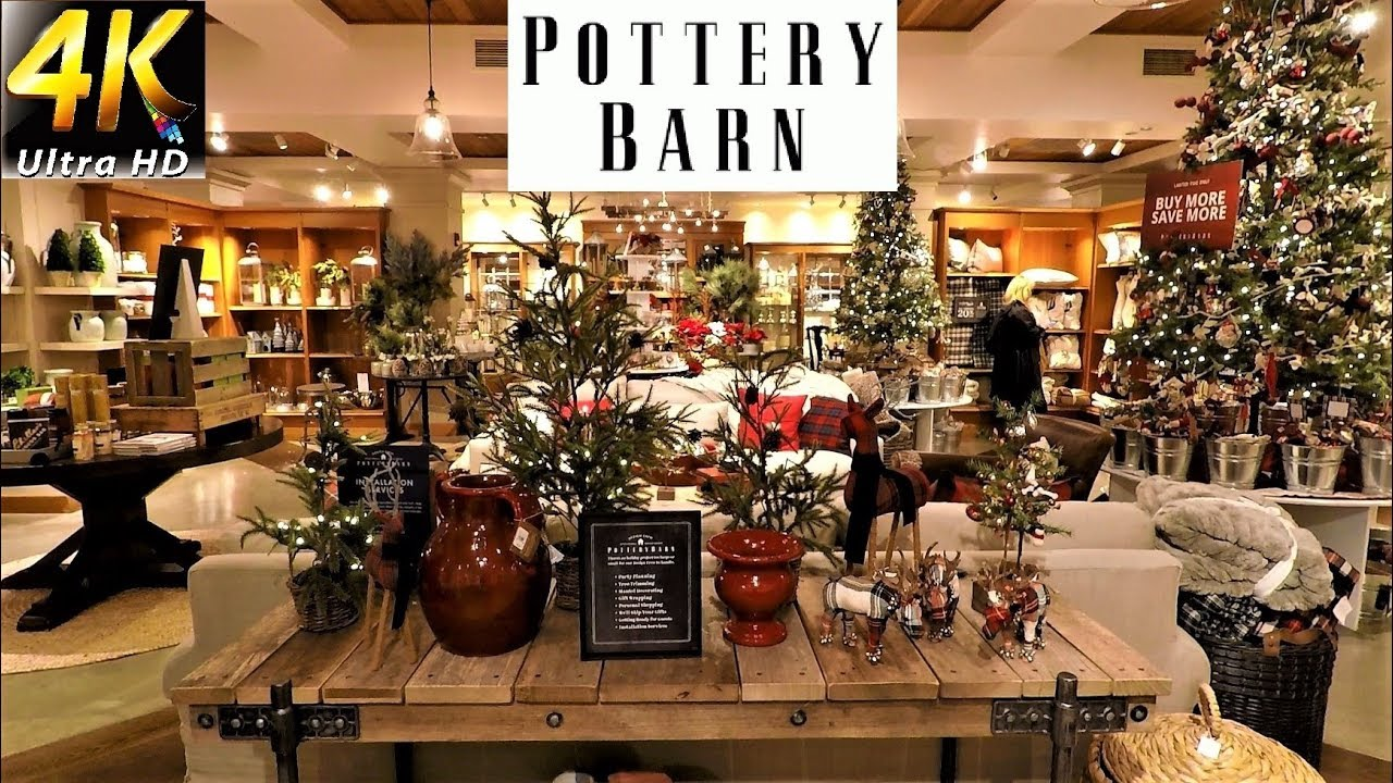 POTTERY BARN CHRISTMAS DECOR   Christmas Decorations Christmas Shopping  Home Decor (4K)