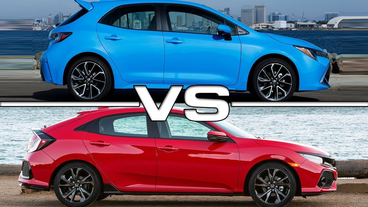 2019 Toyota Corolla Hatchback Vs 2018 Honda Civic Hatchback