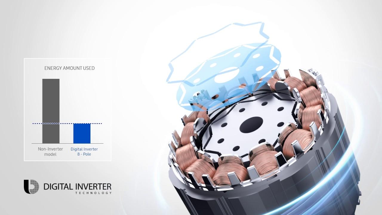 AR24NSPXBWK Wall-mount AC with Digital Inverter, 24,000 BTU