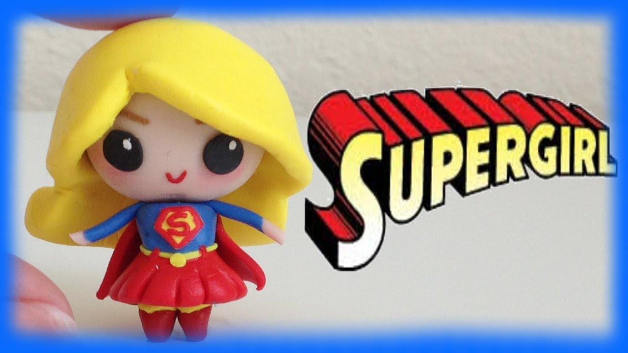 Supergirl superwoman chibi clay character tutorial youtube baditri Images