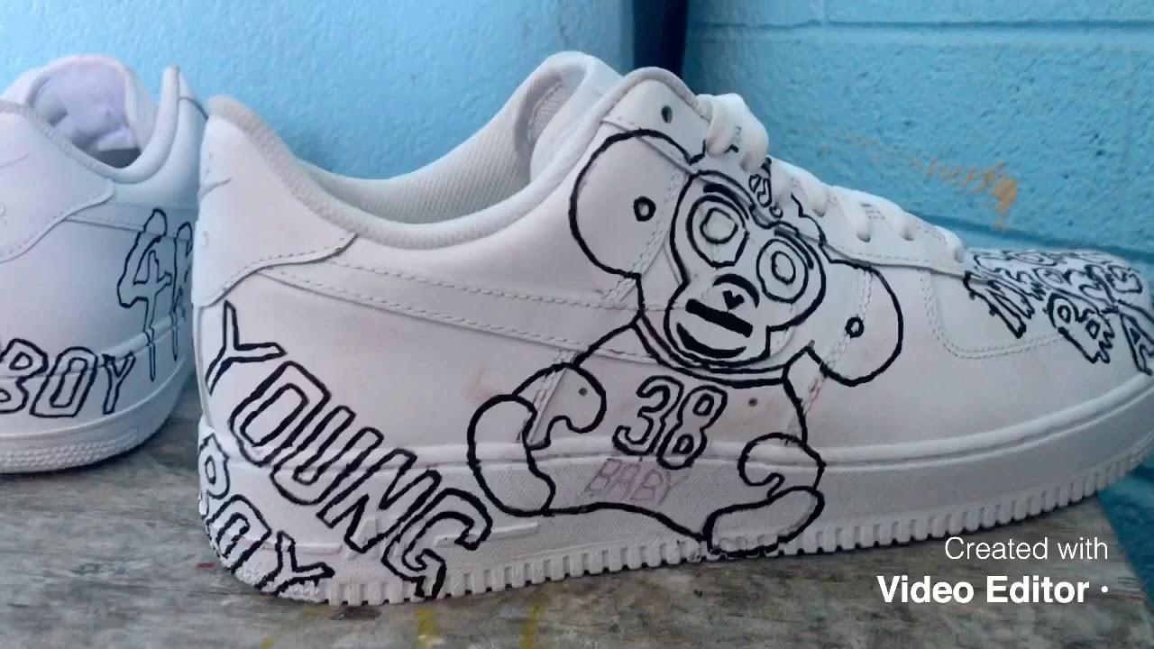 nba youngboy custom shoes