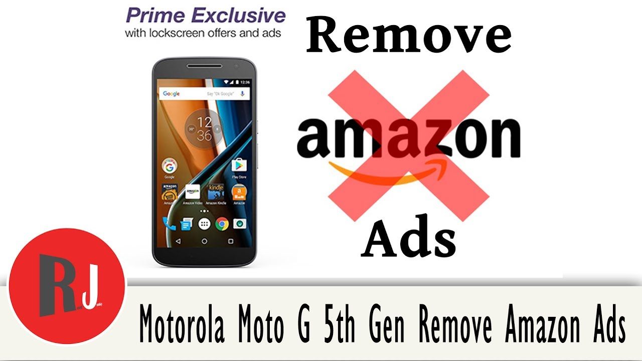 How to Remove Lock Screen ads on the Amazon Moto 4th & Moto 5th Gen