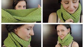 как сделать шарф-хомут  ANNETORIUM knits