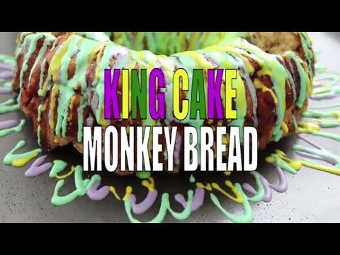 King Cake Cinnamon Roll Monkey Bread Recipe