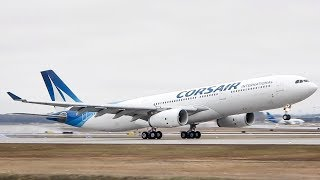 *First Flight of the Season!!* Corsair Airbus A330-300 (A333) landing in Montreal (YUL/CYUL)