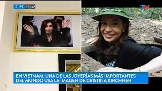 """""""Una de las joyerías más importantes del mundo, usa la imagen de CFK"""", en """"TN Central"""" - 17/02/17"""