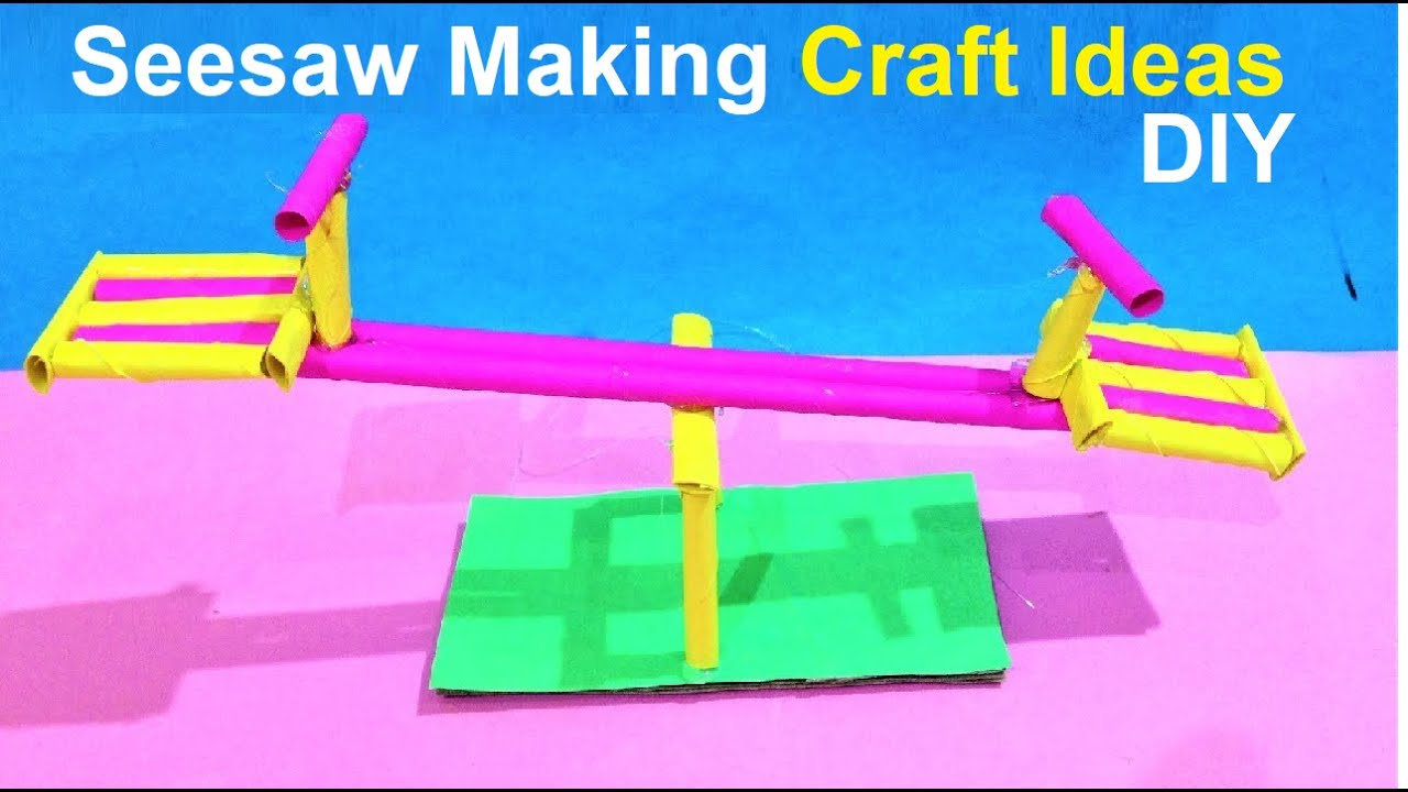 Seesaw Making Craft Ideas With Paper School Project For Kids