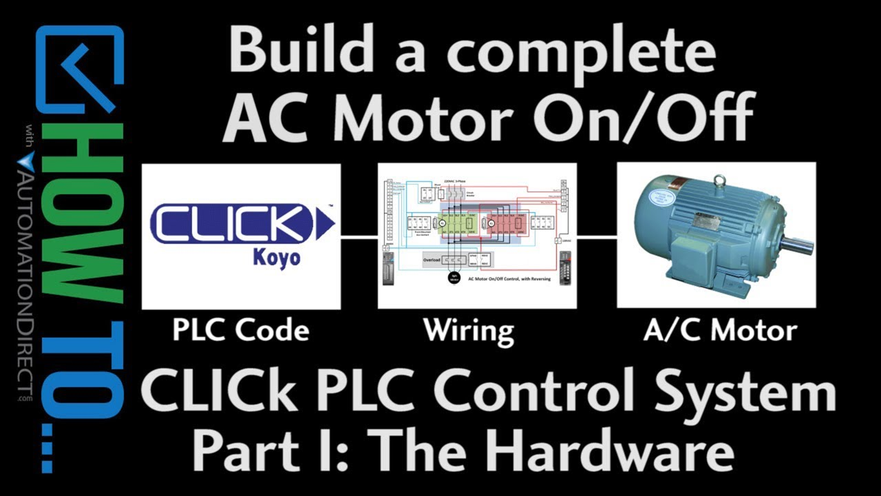 How To Control On Off Ac Motors With A Click Plc Part I