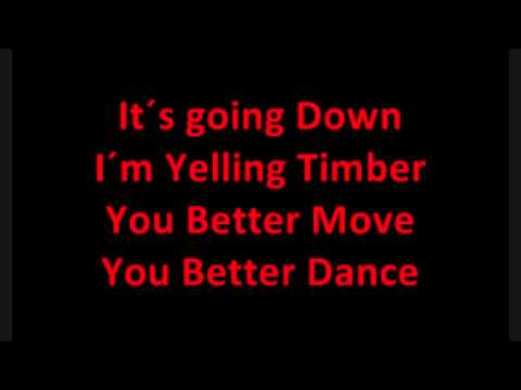 Timber full song and lyrics