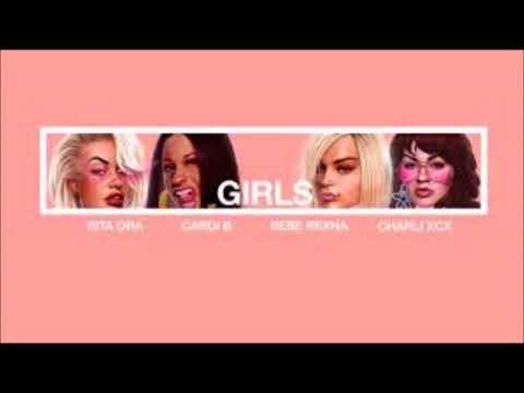 Rita Ora , Bebe Rexha , Charli XCX , Cardi B - Girls - ( 1 Hour )