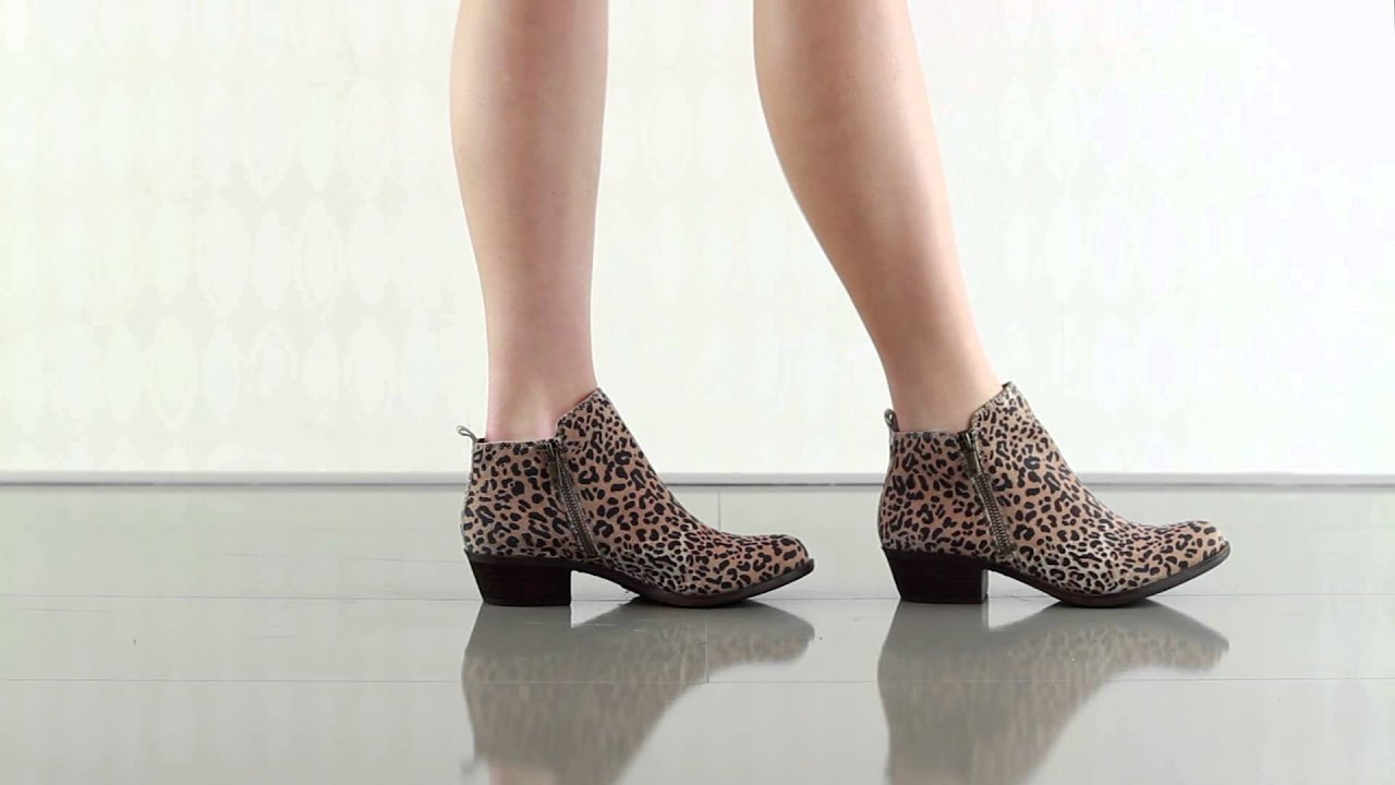 lucky brand booties leopard
