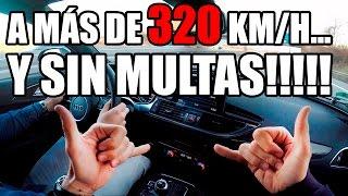 VAMOS A MÁS DE 320KM/H POR LA AUTOPISTA... SIN MULTAS!!! TOP SPEED DRIVE| Dani Clos
