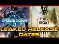 CRACKDOWN 3 & STATE OF DECAY 2 LEAKED RELEASE DATES From AMAZON | Coming Sooner Than We Thought!!!