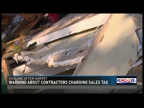 Warning about contractors charging sales tax