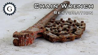 Chain Wrench Restoration   MCC Chain Wrench