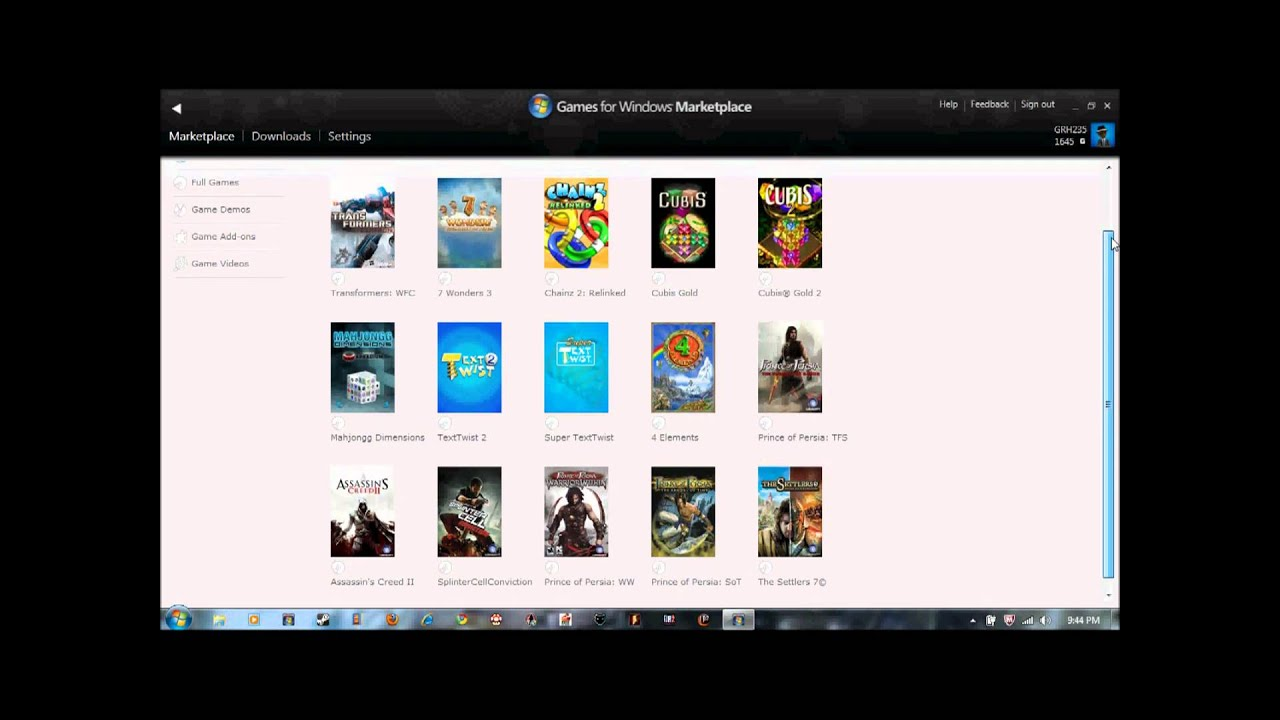 Games For Windows Live Marketplace Games March 9 2011