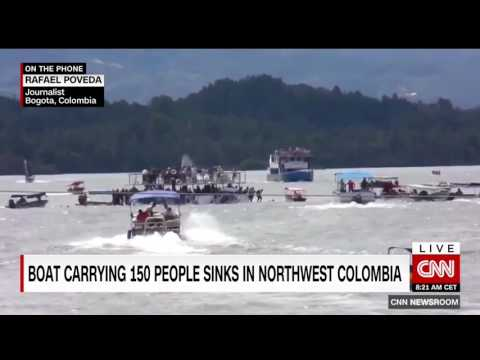 Six dead, dozens missing after tourist boat sinks in Colombia