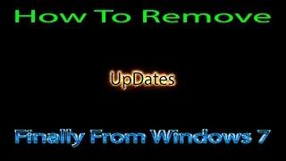 إزالة التحديثات من ويندوز 7 نهائيا