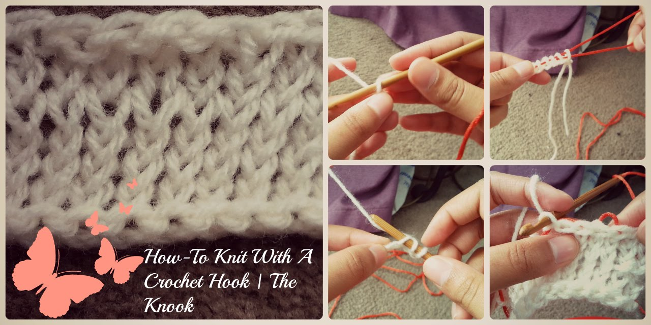 How To Knit With A Crochet Hook The Knook Youtube