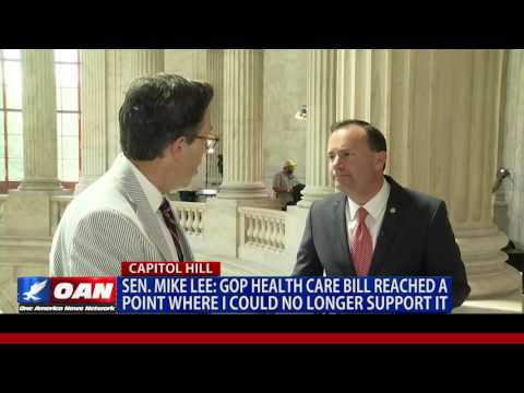 Sen. Mike Lee: GOP health care bill reached a point where I could no longer support it