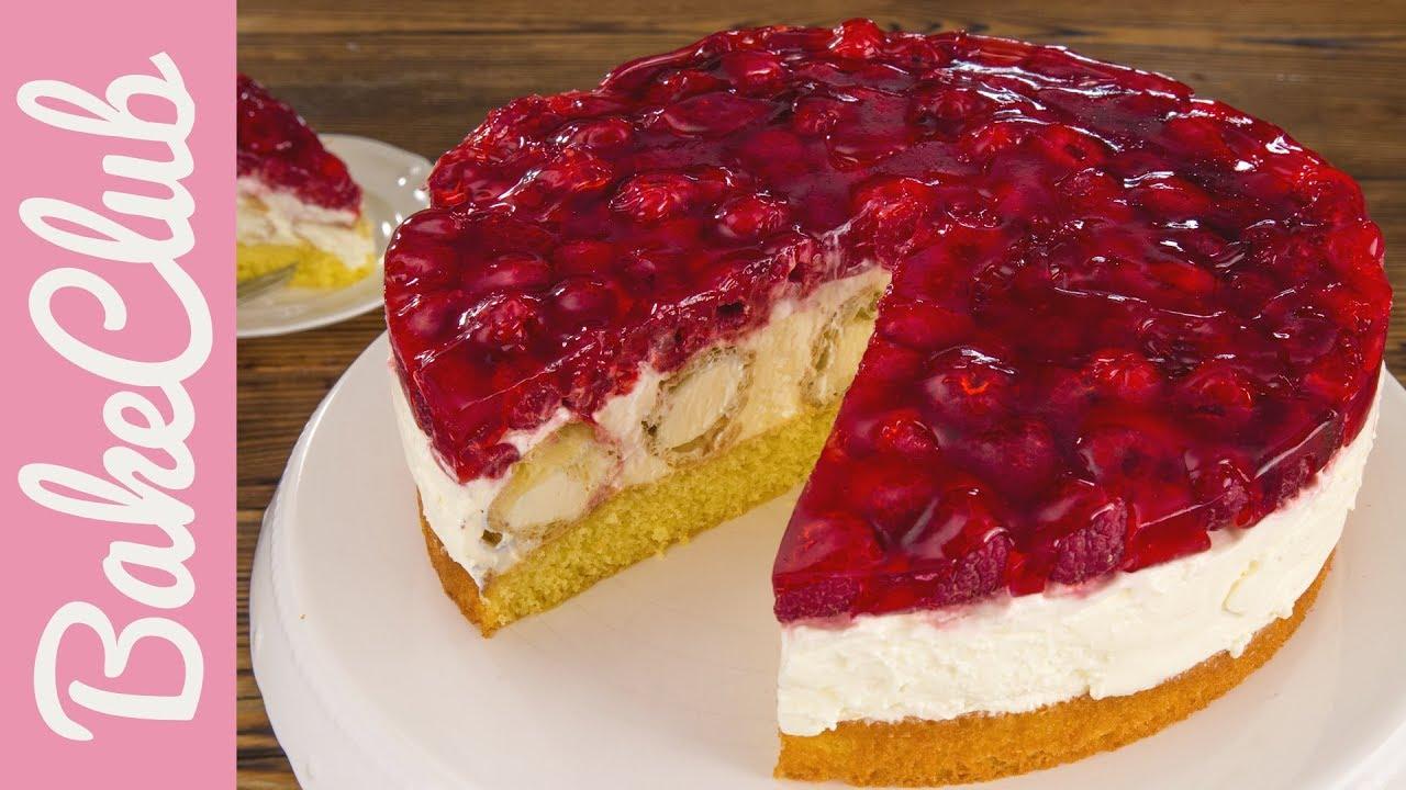 Windbeutel-Torte mit Himbeeren  BakeClub
