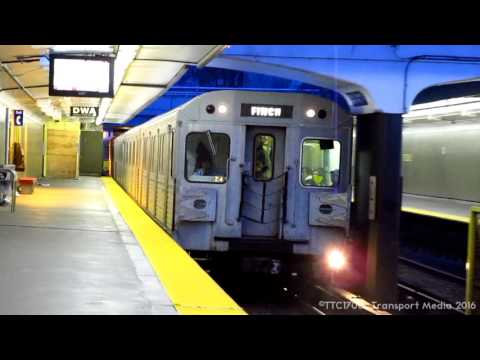 TTC - Toronto Transit Commission Yonge University Spadina Subway action 2011 -  Compilation Video #3